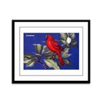 Northern Cardinal Bird Framed Panel Print