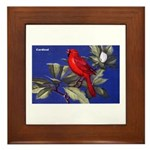 Northern Cardinal Bird Framed Tile