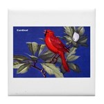 Northern Cardinal Bird Tile Coaster