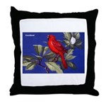 Northern Cardinal Bird Throw Pillow