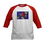 Northern Cardinal Bird (Front) Kids Baseball Jerse