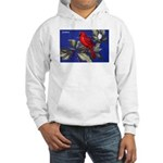 Northern Cardinal Bird Hooded Sweatshirt