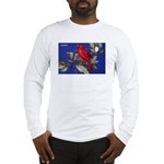 Northern Cardinal Bird Long Sleeve T-Shirt
