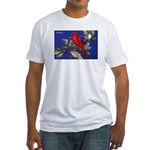 Northern Cardinal Bird Fitted T-Shirt