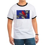 Northern Cardinal Bird (Front) Ringer T