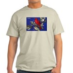 Northern Cardinal Bird (Front) Light T-Shirt