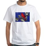 Northern Cardinal Bird (Front) White T-Shirt