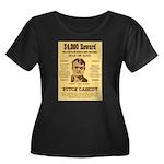 Butch Cassidy Women's Plus Size Scoop Neck Dark T-