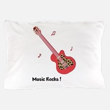 Personalized Red Leopard Guitar Pillow Case