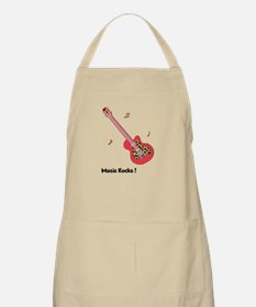 Personalized Red Leopard Guitar Apron