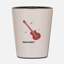 Personalized Red Leopard Guitar Shot Glass