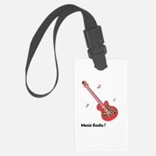 Personalized Red Leopard Guitar Luggage Tag