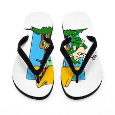 Wishing Well Leprechaun Flip Flops
