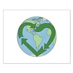 Recycle Earth (Heart) Small Poster