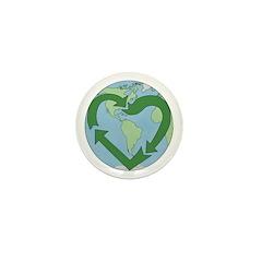 Recycle Earth (Heart) Mini Button