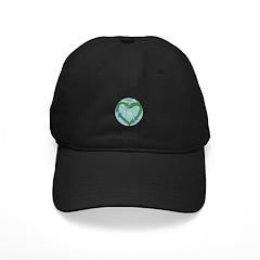 Recycle Earth (Heart) Black Cap