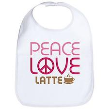 Peace Love Latte Bib