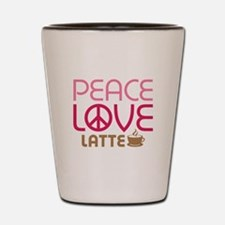 Peace Love Latte Shot Glass