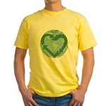 Recycle Earth (Heart) Yellow T-Shirt