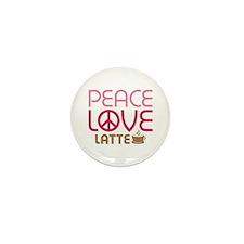 Peace Love Latte Mini Button (10 pack)