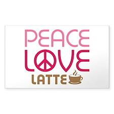 Peace Love Latte Decal