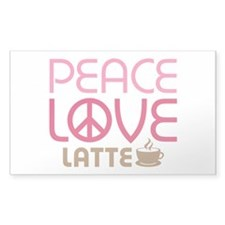 Peace Love Latte Decal