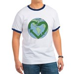 Recycle Earth (Heart) Ringer T