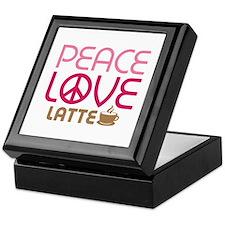 Peace Love Latte Keepsake Box