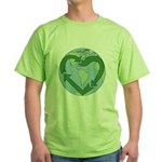 Recycle Earth (Heart) Green T-Shirt