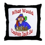 What Would Capt. JAck Do? Throw Pillow
