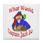 What Would Capt. JAck Do? Tile Coaster