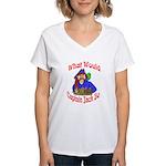 What Would Capt. JAck Do? Women's V-Neck T-Shirt