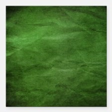 "Green wrinkle paper texture Square Car Magnet 3"" x"
