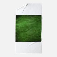 Green wrinkle paper texture Beach Towel