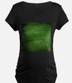 Green wrinkle paper texture Maternity T-Shirt