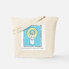 Let it shine blue Tote Bag