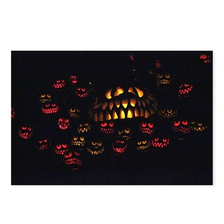Jack O Lanterns Postcards (Package of 8)