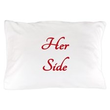 #1 RED HER SIDE\HIS SIDE Pillow Case