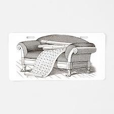 Interior Decorator Sofa wit Aluminum License Plate