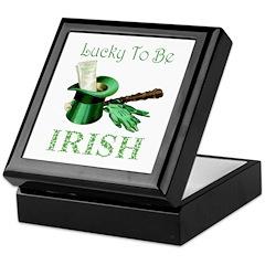 LUCKY TO BE IRISH Keepsake Box