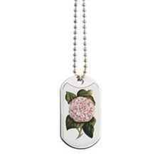 Countess of Derby Camelia Flower Dog Tags