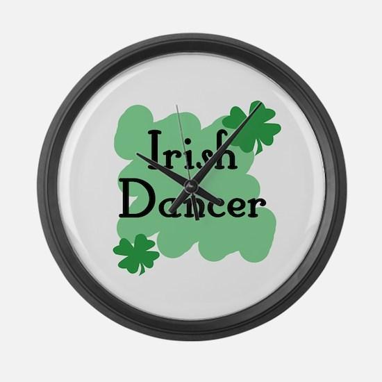Irish Dancer Large Wall Clock