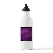 Purple wrinkle paper texture Water Bottle