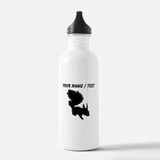 Custom Squirrel Silhouette Water Bottle