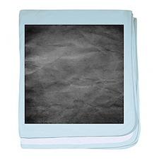 Slate wrinkle paper texture baby blanket