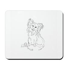 """Playful Papillion"" dog Mousepad"
