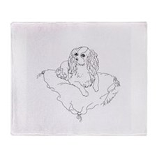"'Cavalier King Charles Spaniel"" dog Throw Blanket"
