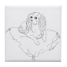 "'Cavalier King Charles Spaniel"" dog Tile Coaster"