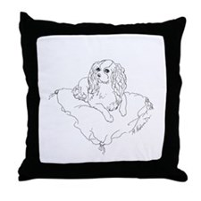 "'Cavalier King Charles Spaniel"" dog Throw Pillow"