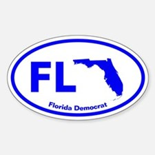 Florida BLUE STATE Oval Decal